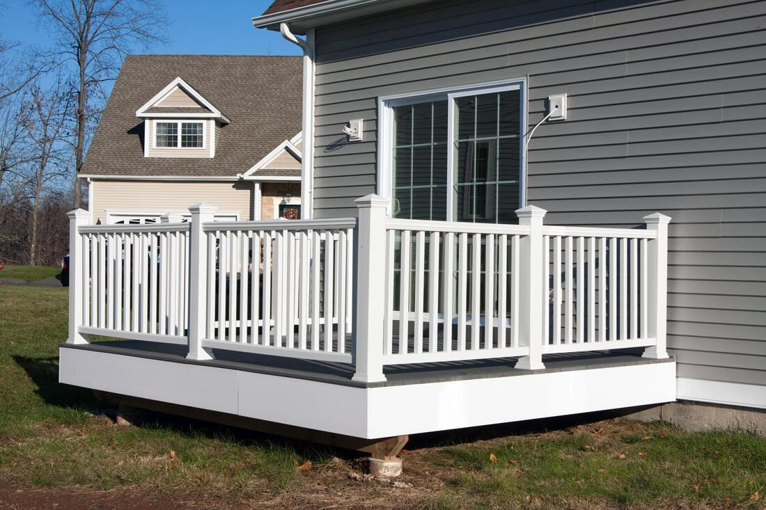 deck painted in white